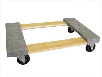 Carpeted Wood Dolly